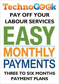 Ask about our payment options for your labour services
